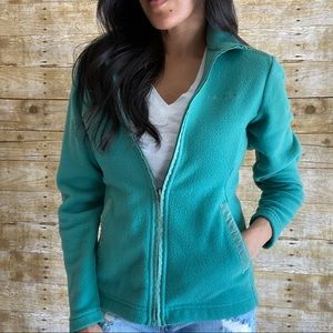 Patagonia Green Fleece Full Zip Jacket